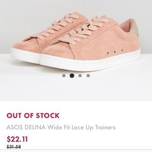 ASOS faux suede trainers 7 wide
